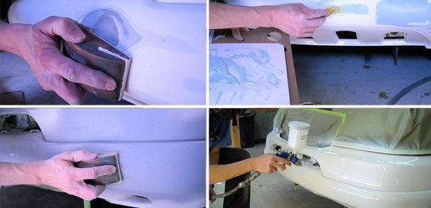 Как покрасить новый бампер своими руками 21